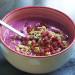 Colazione a base di cereali, mirtilli e bacche di goji