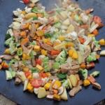 Seitan piatto misto con verdure