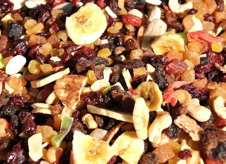 Frutta secca: benefici e calorie
