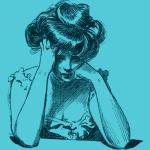 donna-preoccupata-vintage