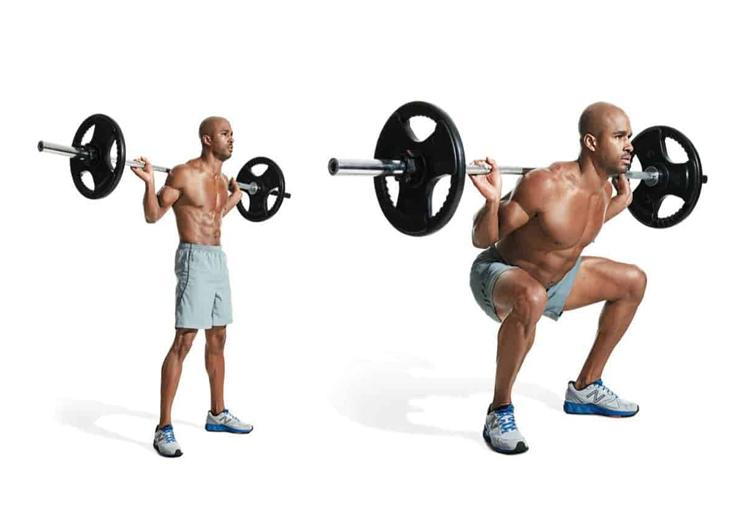 Squat con bilanciere, come effettuare l'esercizio